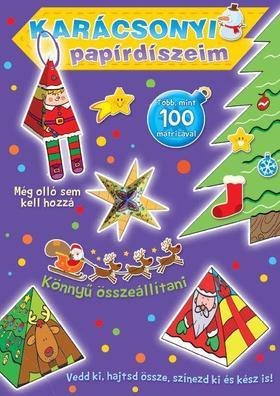 Karácsonyi papírdíszeim (lila borító)