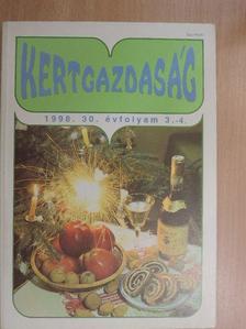 Bakos István - Kertgazdaság 1998/3-4. [antikvár]