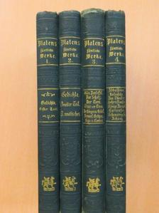 August von Platen - Platens sämtliche Werke in vier Bänden I-IV. (gótbetűs)  [antikvár]