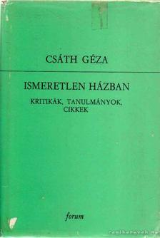 Csáth Géza - Ismeretlen házban II. kötet [antikvár]