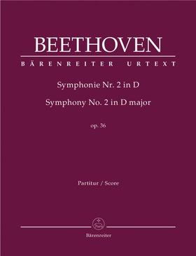 BEETHOVEN - SYMPHONIE NR.2 IN D OP.36 PARTITUR URTEXT (JONATHAN DEL MAR)