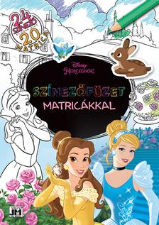 Disney - Színezőfüzet matricákkal - Disney-hercegnők (20 matrica)