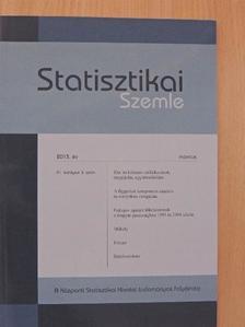 Berger Viktor - Statisztikai Szemle 2013. március [antikvár]