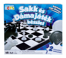 Sakk és dámajáték társasjáték készlet