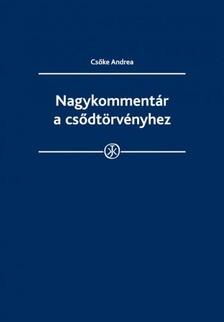 CSŐKE ANDREA - Nagykommentár a csődtörvényhez [eKönyv: epub, mobi]