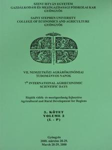 Berke Szilárd - VII. Nemzetközi Agrárökonómiai Tudományos Napok 3. [antikvár]