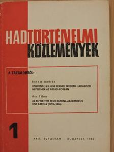 Ács Tibor - Hadtörténelmi Közlemények 1982/1. [antikvár]