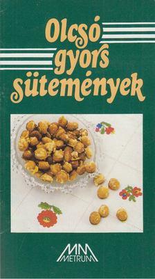 Szűcs Péter - Olcsó gyors sütemények [antikvár]