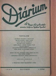 Bölöni György - Diárium 1948. október [antikvár]