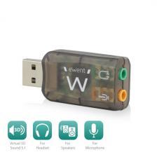 Ewent EW3751 USB hangkártya 5.1, Virtuális 3D hangzás