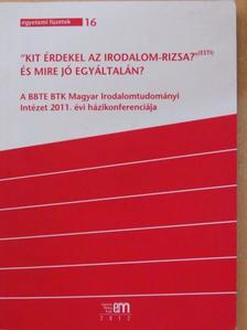 """Balázs Imre József - """"Kit érdekel az irodalom-rizsa?""""(Esti) És mire jó egyáltalán? [antikvár]"""