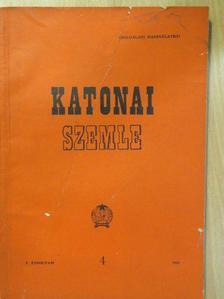 Bartus Vilmos - Katonai Szemle 1956. április [antikvár]