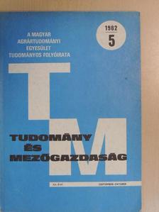 Dr. Abonyiné dr. Palotás Jolán - Tudomány és Mezőgazdaság 1982. szeptember-október [antikvár]