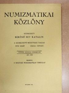 Berényi Zsuzsanna Ágnes - Numizmatikai közlöny 1987-1988. [antikvár]