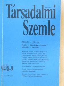 Almási Miklós - Társadalmi Szemle 1994. augusztus-szeptember [antikvár]