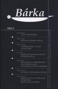 Elek Tibor - Bárka 2002/3 [antikvár]