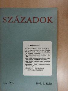 Balázs Péter - Századok 1982/3. [antikvár]