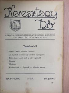 Dr. Knébel Miklós - Keresztény Nő 1936. június [antikvár]