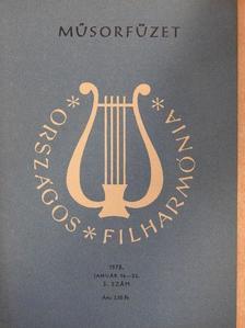Hamburger Klára - Országos Filharmónia Műsorfüzet 1978/3. [antikvár]