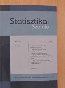 Bedekovics István - Statisztikai Szemle 2013. június [antikvár]