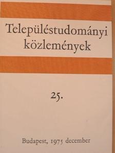 Dr. Fodor Lászlóné - Településtudományi közlemények 25. [antikvár]