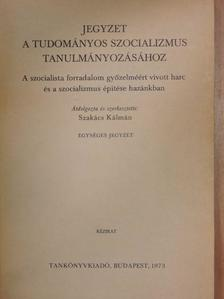 Blaskovits János - Jegyzet a tudományos szocializmus tanulmányozásához [antikvár]