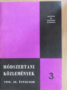 Csicselyné Korbely Zsuzsanna - Módszertani Közlemények 1995/3. [antikvár]